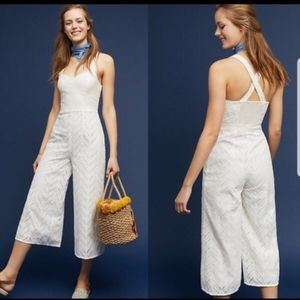 Anthropologie Eye Scarlet Jumpsuit